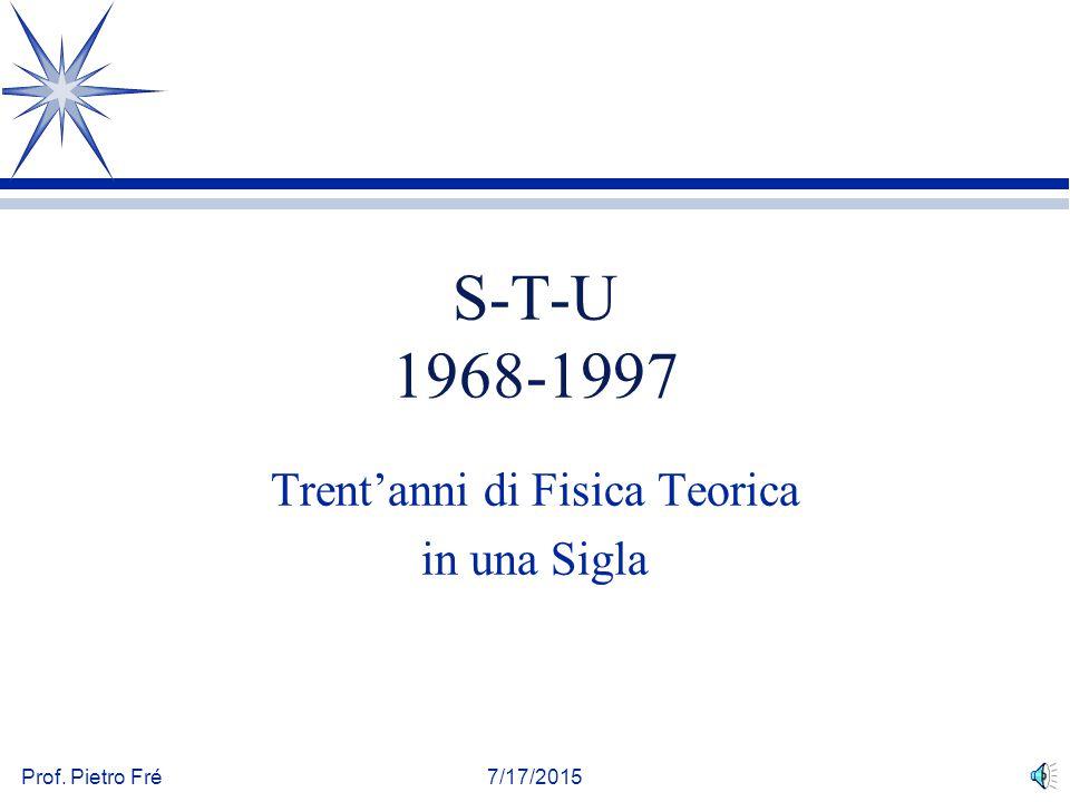 Trent'anni di Fisica Teorica in una Sigla
