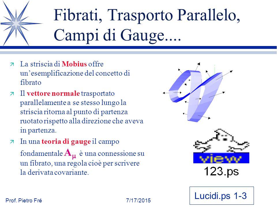 Fibrati, Trasporto Parallelo, Campi di Gauge....