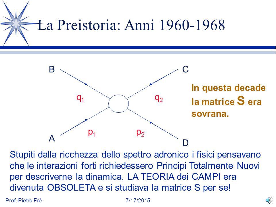 La Preistoria: Anni 1960-1968 B C