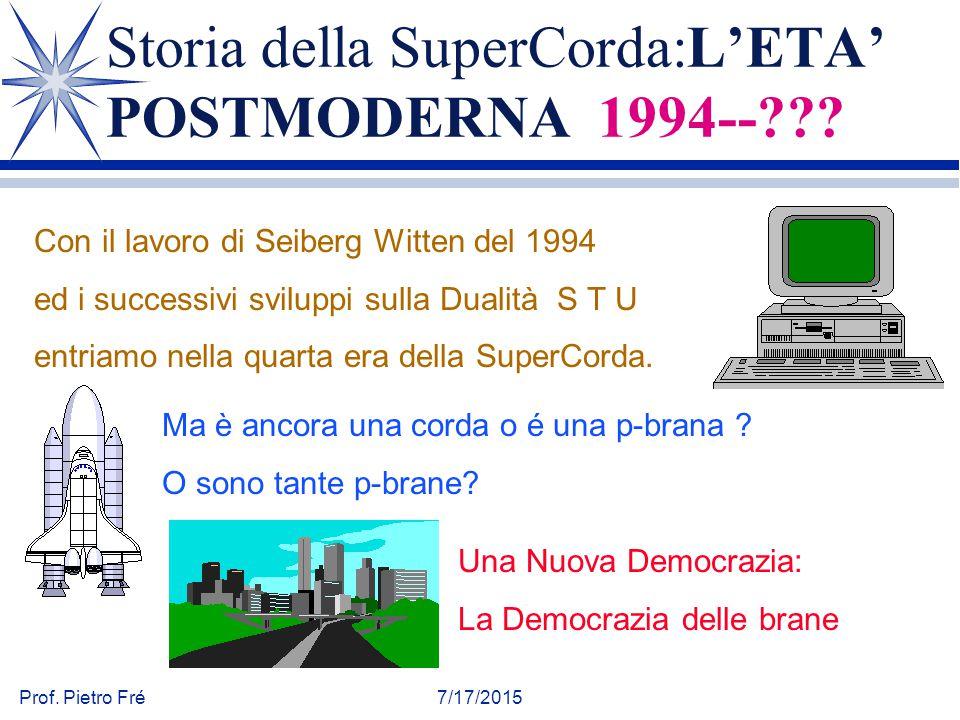 Storia della SuperCorda:L'ETA' POSTMODERNA 1994--