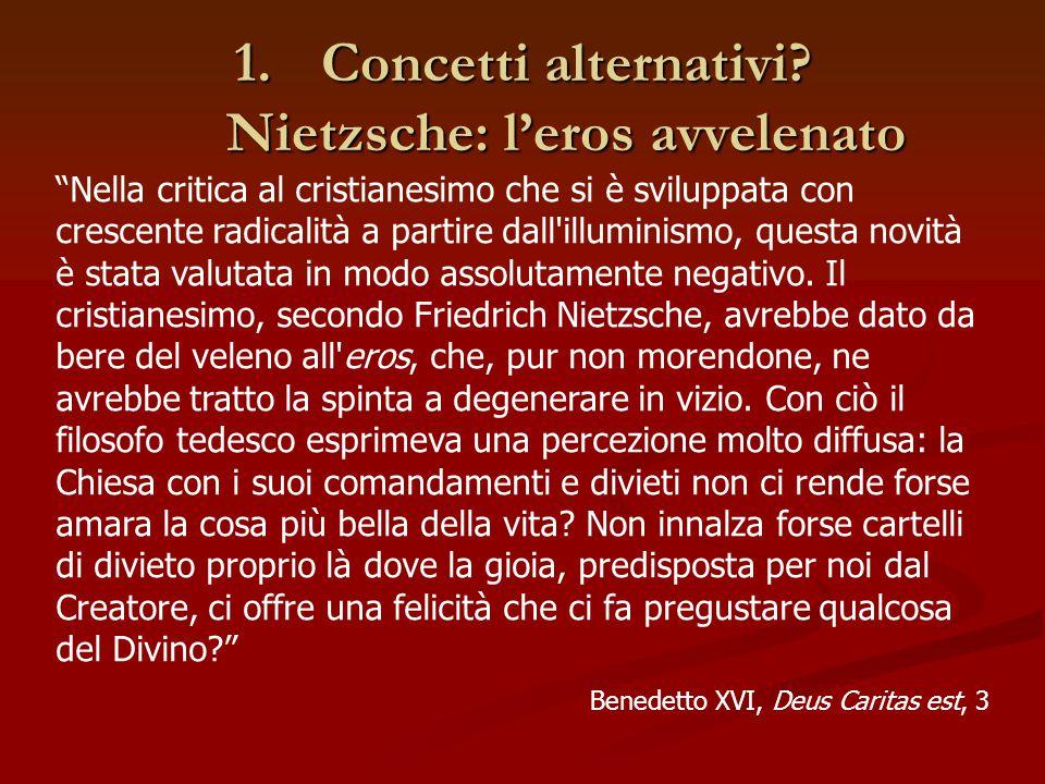 Concetti alternativi Nietzsche: l'eros avvelenato