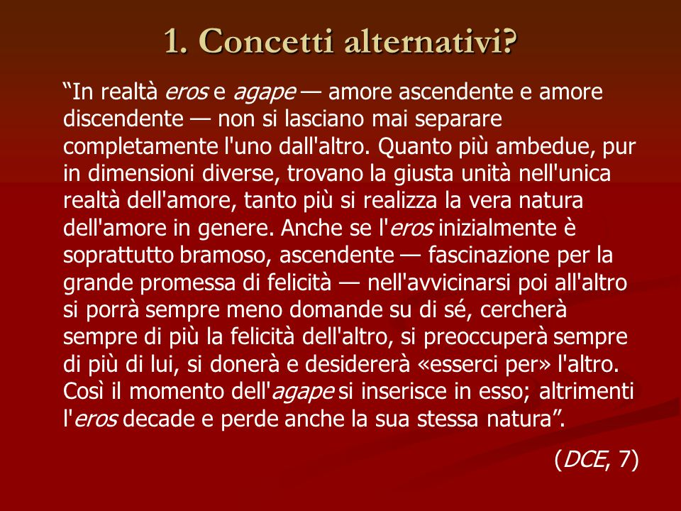 1. Concetti alternativi