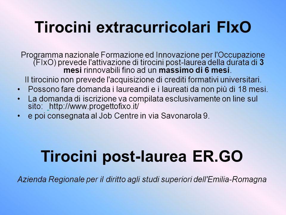 Tirocini extracurricolari FIxO