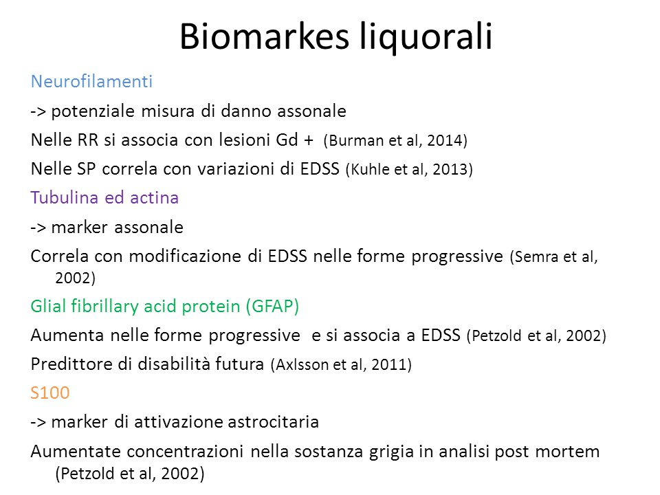 Biomarkes liquorali