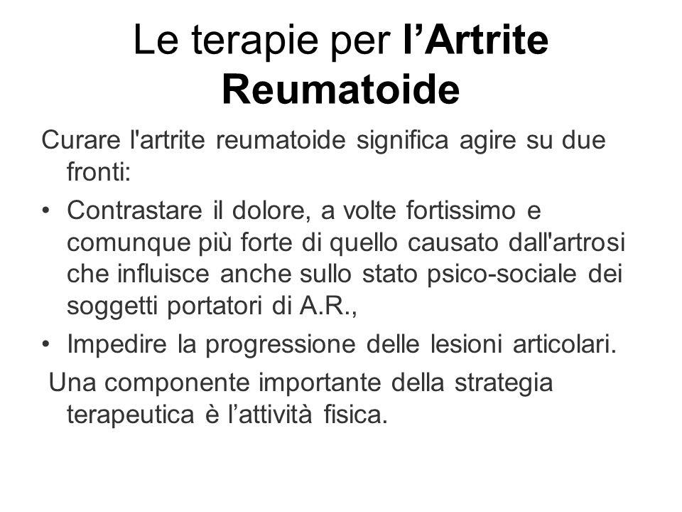Le terapie per l'Artrite Reumatoide