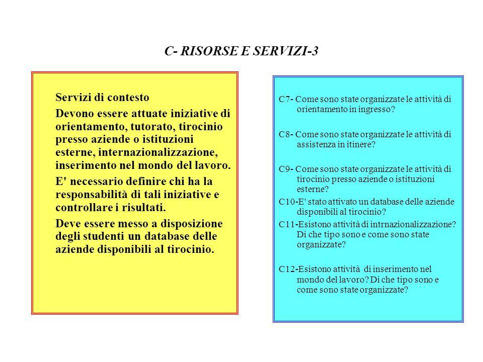 C- RISORSE E SERVIZI-3 Servizi di contesto