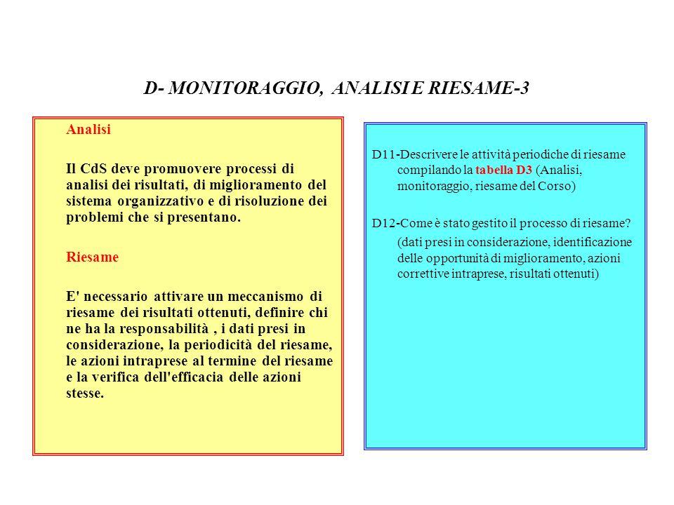 D- MONITORAGGIO, ANALISI E RIESAME-3