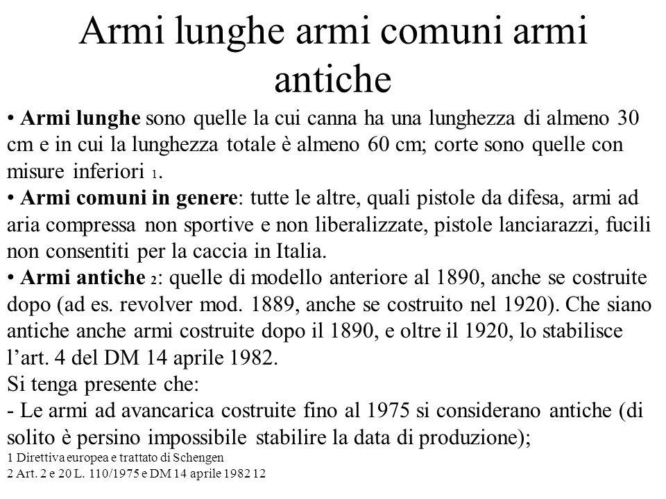 Armi lunghe armi comuni armi antiche