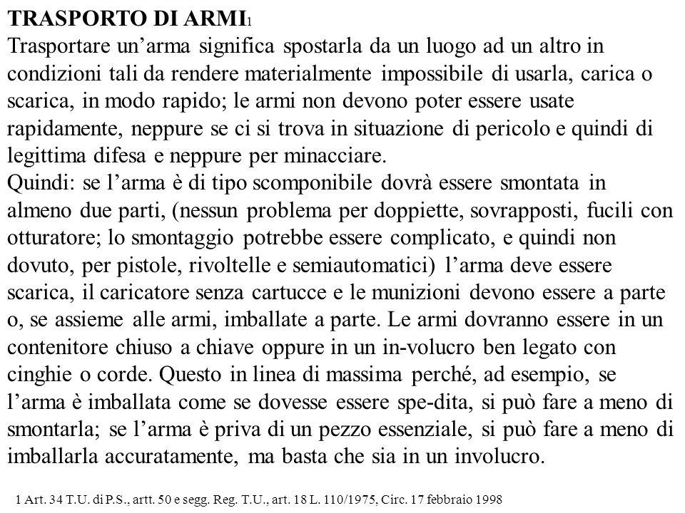 TRASPORTO DI ARMI1