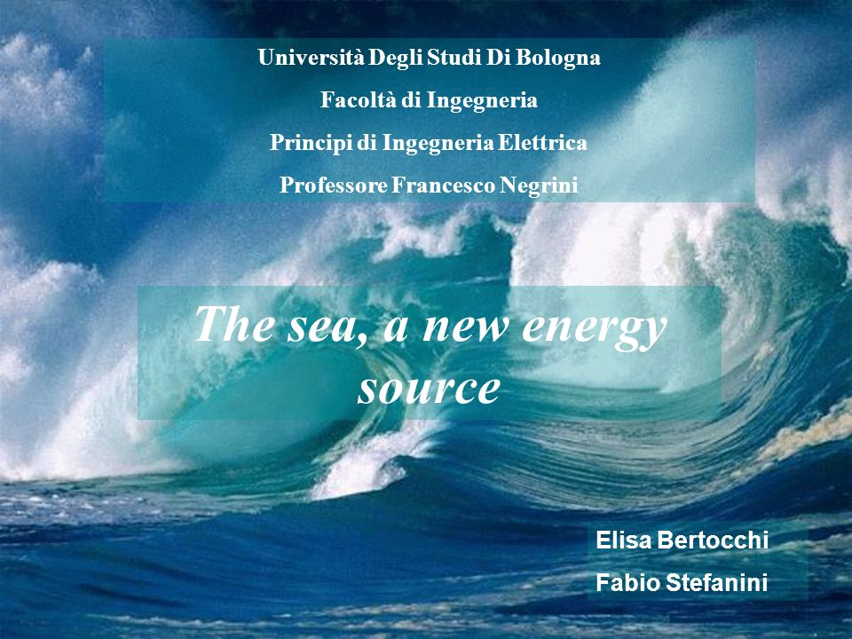 The sea, a new energy source