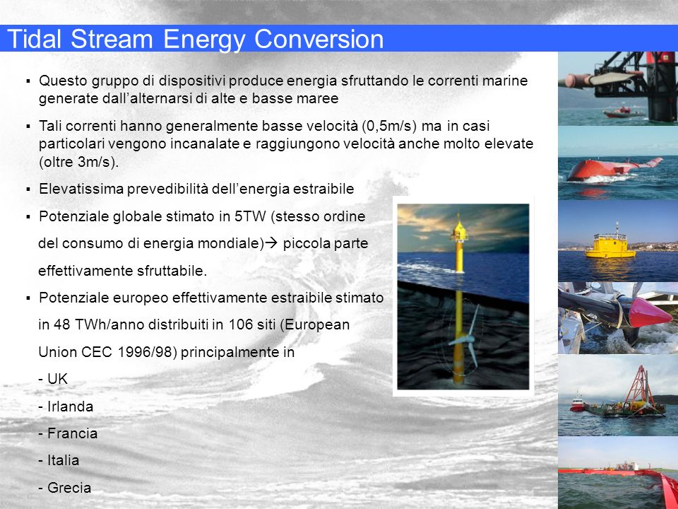 Tidal Stream Energy Conversion