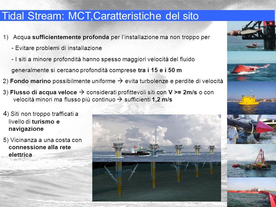 Tidal Stream: MCT,Caratteristiche del sito