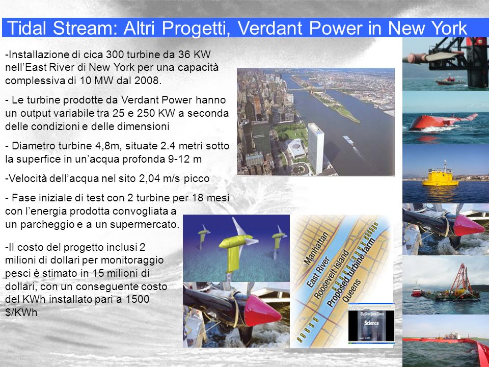 Tidal Stream: Altri Progetti, Verdant Power in New York