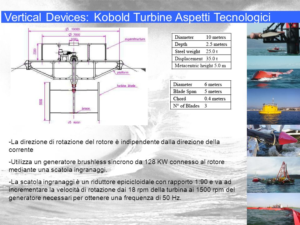 Vertical Devices: Kobold Turbine Aspetti Tecnologici
