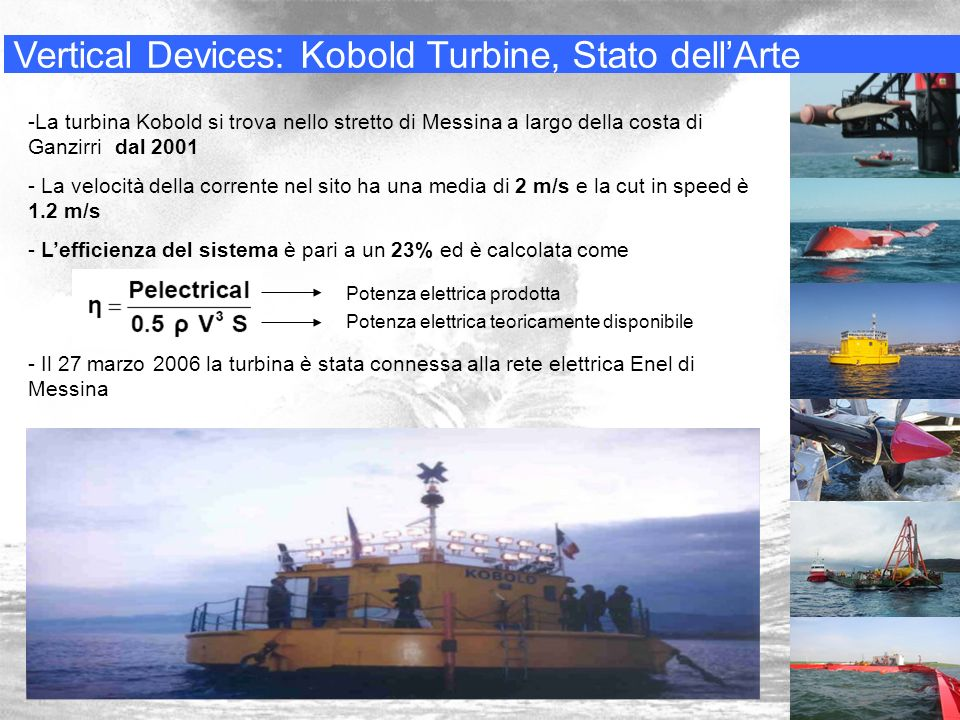 Vertical Devices: Kobold Turbine, Stato dell'Arte