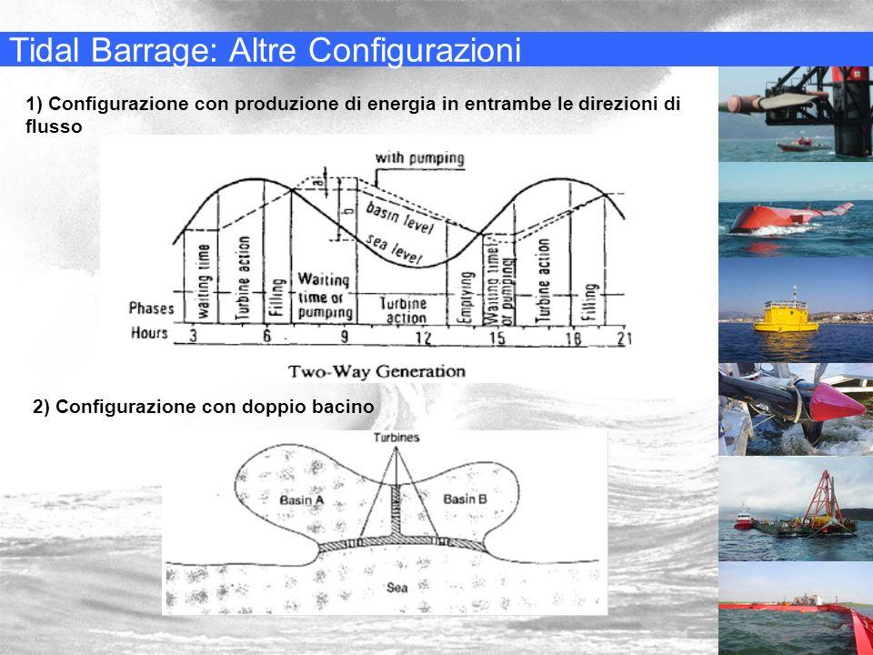 Tidal Barrage: Altre Configurazioni