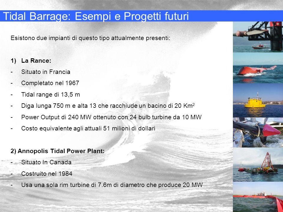 Tidal Barrage: Esempi e Progetti futuri