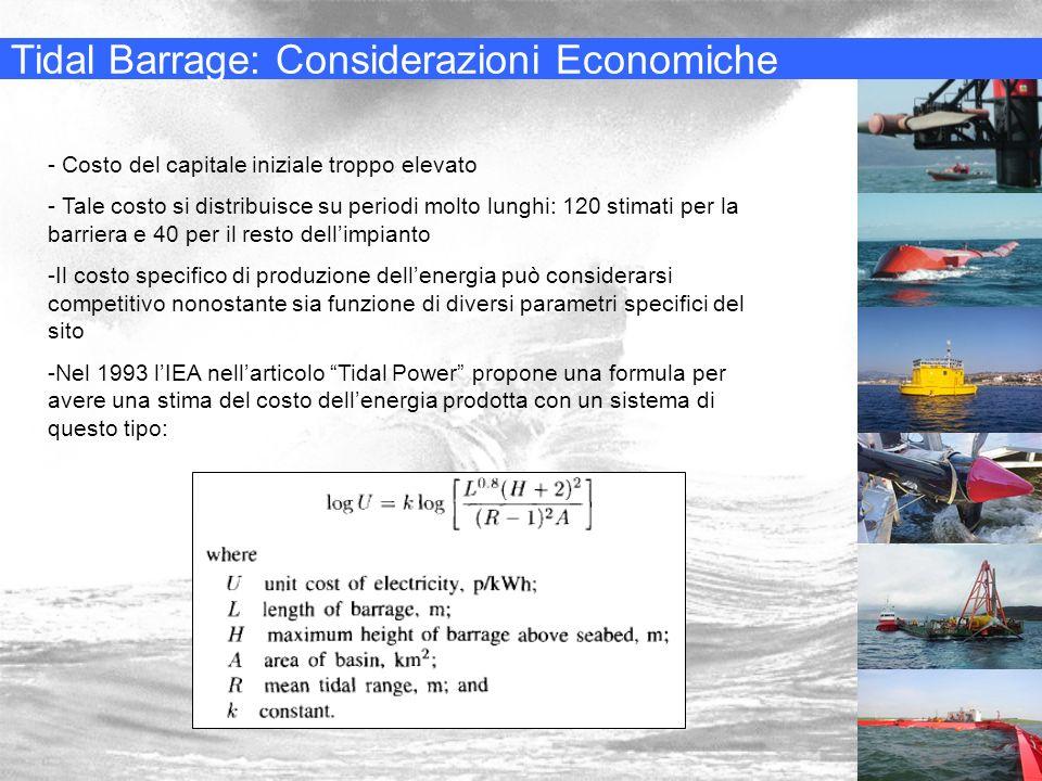 Tidal Barrage: Considerazioni Economiche