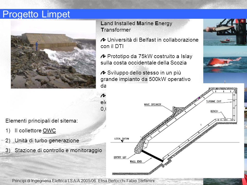 Progetto Limpet Land Installed Marine Energy Transformer