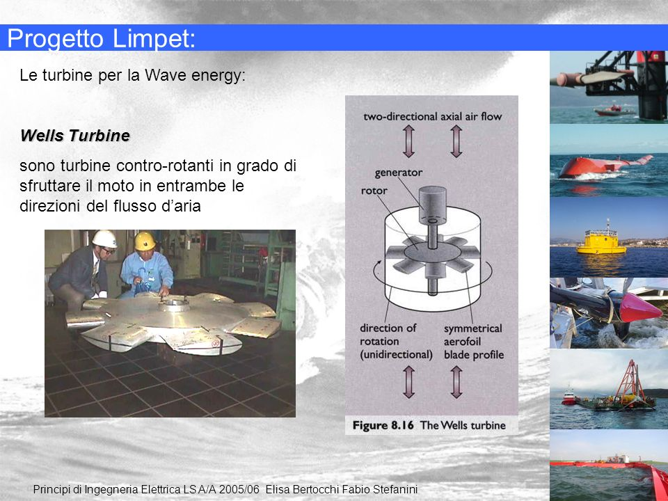 Progetto Limpet: Le turbine per la Wave energy: Wells Turbine