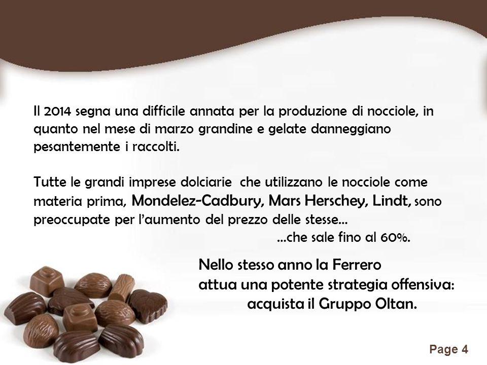 Nello stesso anno la Ferrero attua una potente strategia offensiva: