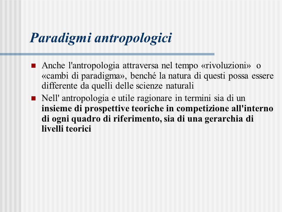Paradigmi antropologici