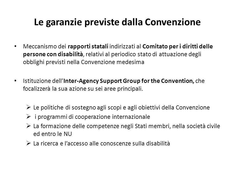 Le garanzie previste dalla Convenzione