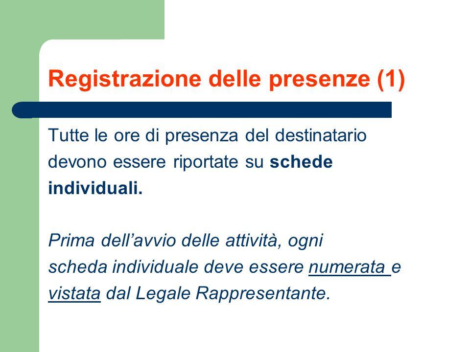 Registrazione delle presenze (1)