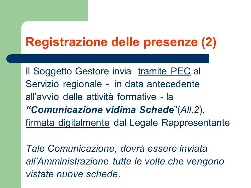 Registrazione delle presenze (2)