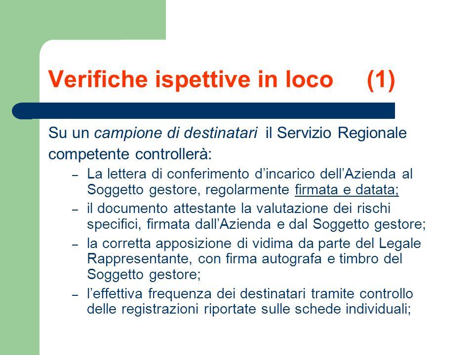 Verifiche ispettive in loco (1)