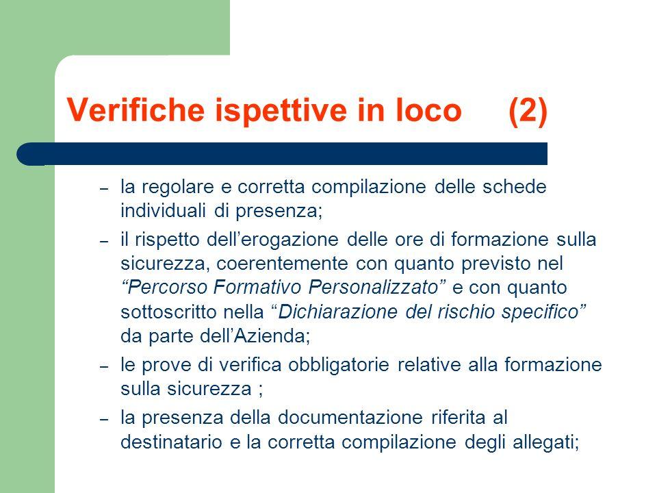 Verifiche ispettive in loco (2)