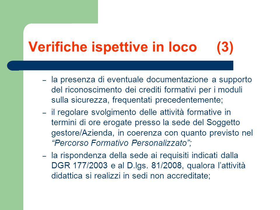 Verifiche ispettive in loco (3)