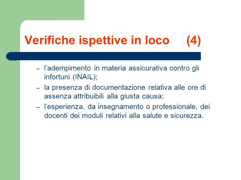 Verifiche ispettive in loco (4)