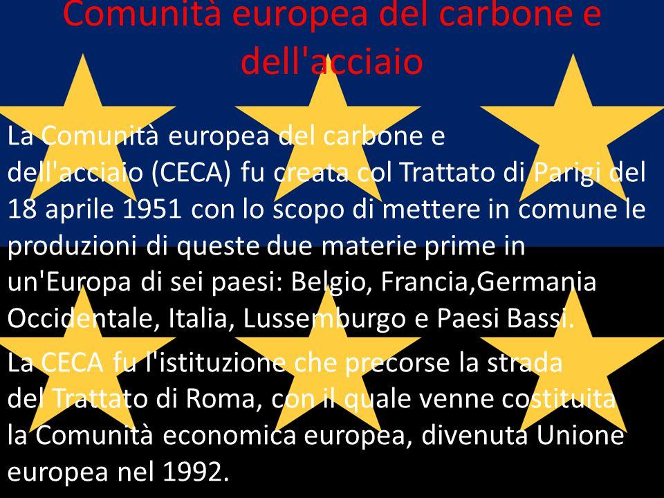 Comunità europea del carbone e dell acciaio