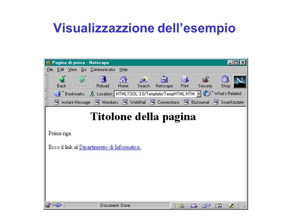Visualizzazzione dell'esempio