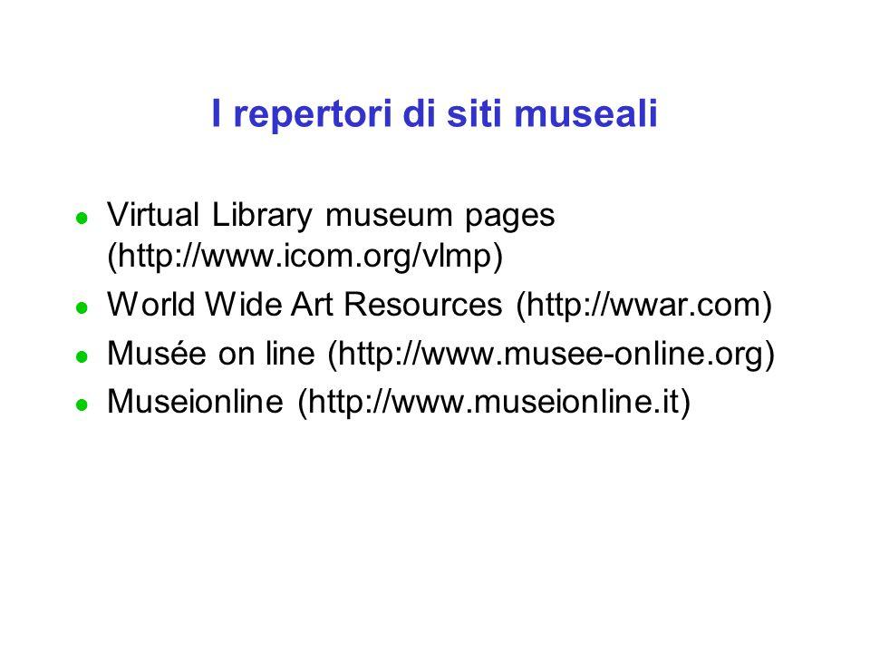 I repertori di siti museali