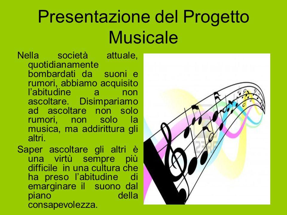 Presentazione del Progetto Musicale