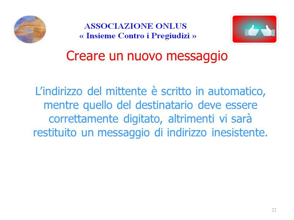 Creare un nuovo messaggio