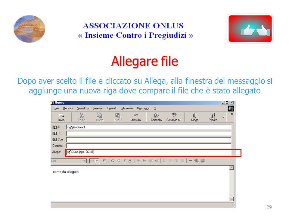 Allegare file