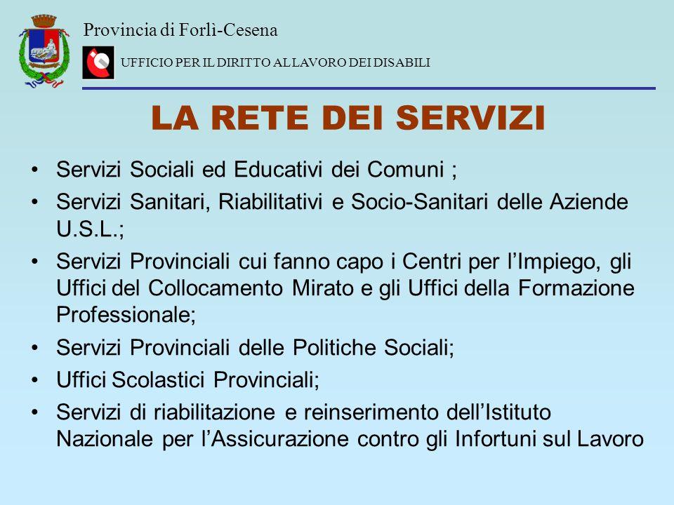 LA RETE DEI SERVIZI Servizi Sociali ed Educativi dei Comuni ;