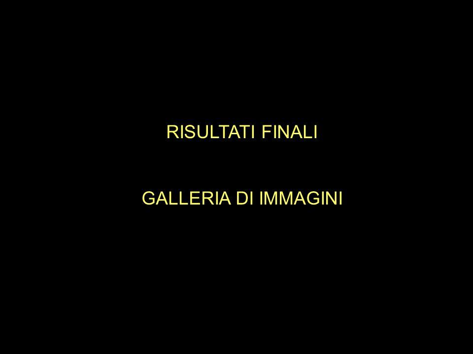 RISULTATI FINALI GALLERIA DI IMMAGINI