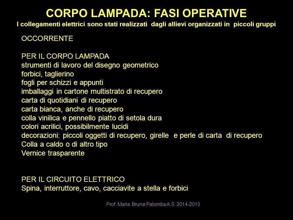 CORPO LAMPADA: FASI OPERATIVE