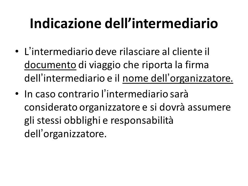 Indicazione dell'intermediario
