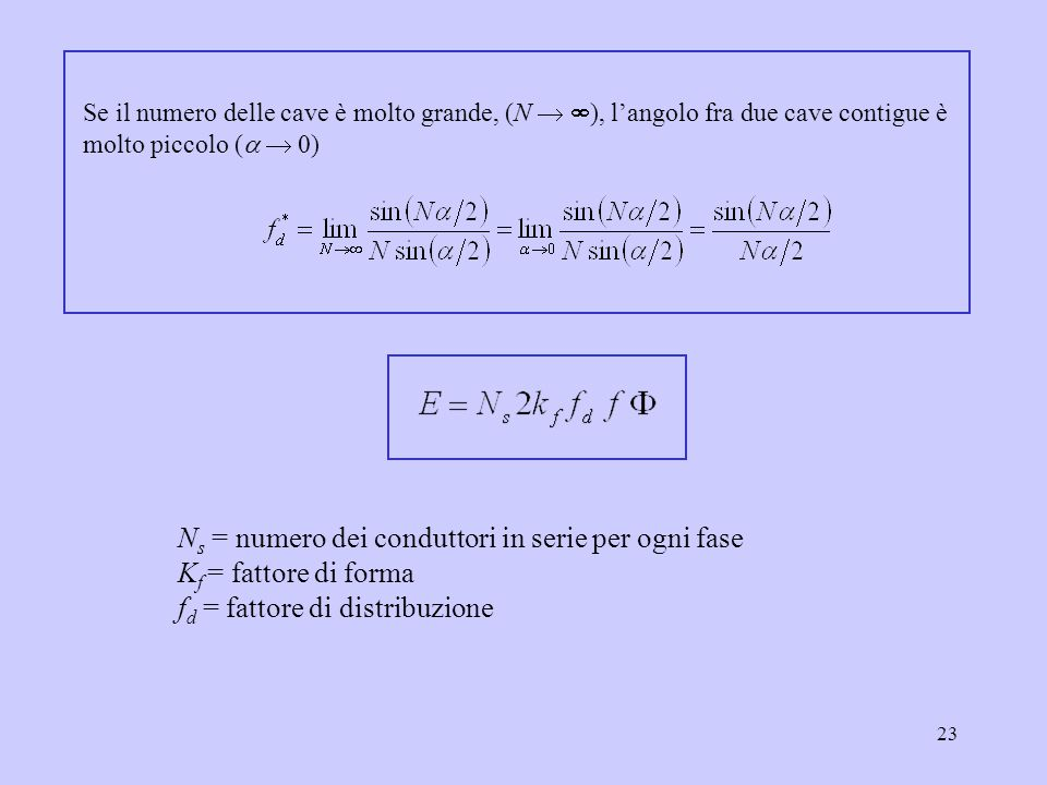 Ns = numero dei conduttori in serie per ogni fase