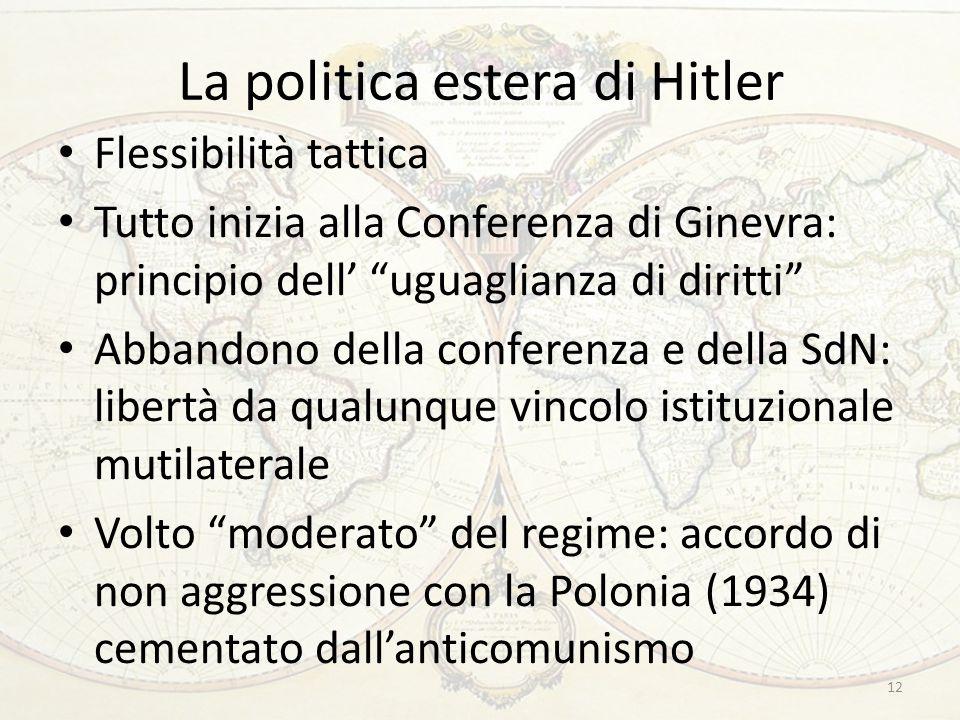 La politica estera di Hitler