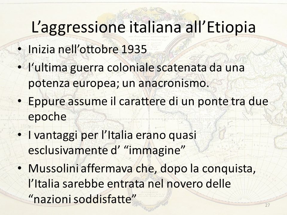 L'aggressione italiana all'Etiopia