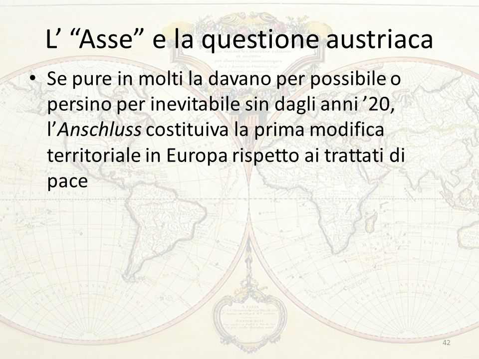 L' Asse e la questione austriaca