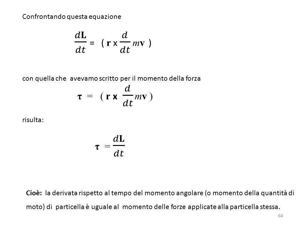 𝑑𝐋 𝑑𝑡 = ( r x 𝑑 𝑑𝑡 mv ) τ = ( r x 𝑑 𝑑𝑡 mv ) τ = 𝑑𝐋 𝑑𝑡