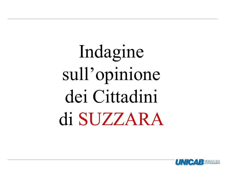 Indagine sull'opinione dei Cittadini di SUZZARA
