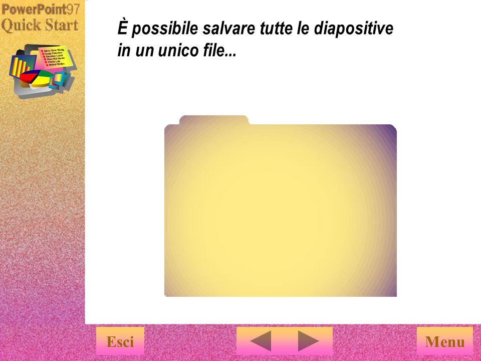 È possibile salvare tutte le diapositive in un unico file...